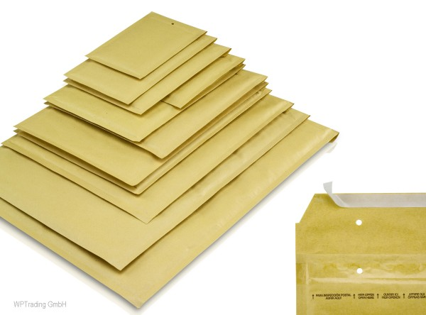 Luftpolstertaschen, goldgelb, 300x350 mm, Gr. 7A