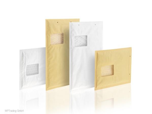 Luftpolstertaschen mit Fenster, weiß, 250x350 mm, Gr. 7